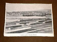 Rarissima veduta di Trieste nel 1918 Cantieri navali di Servola