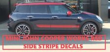 MINI COUNTRYMAN CLUBMAN JOHN COOPER WORKS SIDE STRIPES RED DECAL STICKERS