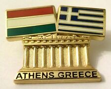 Pin Spilla Olimpiadi Athens 2004 Greece/Hungary Flags