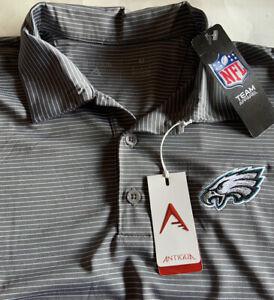 Philadelphia Eagles Men's Golf Polo Shirt Gray New Medium Antigua M NWT NFL $55