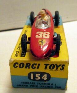 Corgi Toys, 154 Ferrari Formula 1 GP Racing Car,     original