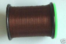 100m Fil PLAT montage MARRON 6/0 pour dubbing mouche fly tying thread flat brown