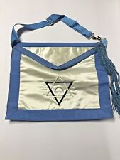 Vintage Baby Blue Past Master's Masonic Apron ~Part Of Big Collection~