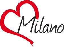 """Adesivo per auto """" MILANO """" (Città) cuore Sticker ca.9x12 cm taglio contorno …"""