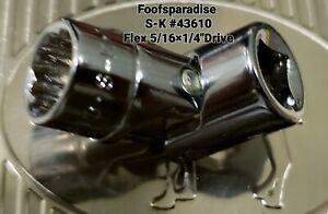 "NOS SK Flex Socket Universal swivel 12 Point SAE 3/8"" x  1/4"" Drive"