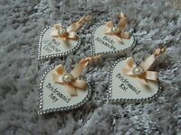 Pretty Bridal Hanger Hearts, PERSONALISED Name+ Role, Bridesmaid Gift, Any Name