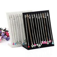 Velvet Necklace Chain Jewelry Display Holder Bracelet Organizer Stand Rack Hot