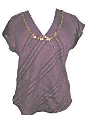 Purple top with metallics by MONSOON UK 8 BNWT
