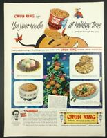 "Vtg. 1958 Chun King Chow Mein Noodles Print Ad (13""x10.25"") 1B Christmas"