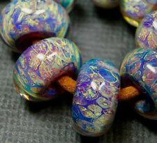 5FISH ~ Handmade Lampwork Boro Spacer Beads ~ Fresco Passion