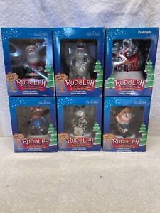 Rudolph The Red Nosed Reindeer And The Island of Misfit Toys Hand Crafted Glass