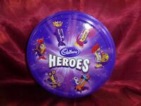 Vintage TIN Cadbury's Heroes Twirl Eclairs Caramel Fudge etc - Food Advertising