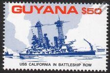 USS California (BB-44) en la Segunda Guerra Mundial Pearl Harbor Barco De Guerra Battleship fila Sello