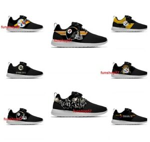 PITTSBURGH STEELERS Unisex Shoes Lightweight Mens Womens Sneakers Football Logo