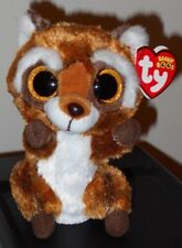 """Ty Beanie Boos ~ RUSTY the 6"""" Raccoon ~ Stuffed Toy ~ 2018 NEW w/ Tags ~ IN HAND"""