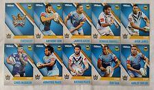 NRL 2017 Trading Cards Gold Coast Titans full set of 10