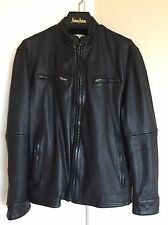 LVC LEVIS MADE & CRAFTED BLACK MOTORCYCLE LEATHER JACKET 3/L MENS