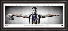 DANE SWAN Signed Collingwood Mini Wings Official AFL Print Framed 2011  BROWNLOW