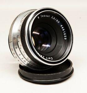 Lens Zeiss Tessar 2,8/80mm for Pentacon Six - serviced