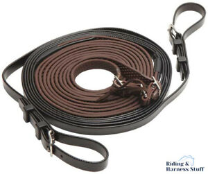 Zilco Carriage Driving Harness - R Grip Rubber Reins for Single Pony, Cob, Full