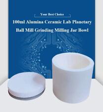 Ball Mill Cup Bowl Alumina Ceramic Lab Planetary Ball Mill Grinding Jar (100ml)
