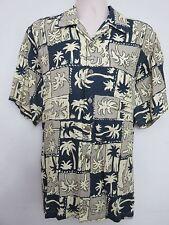 Jim Thompson Hawaiian Short Sleeve Shirt Coconut Design Size Medium 100% Rayon