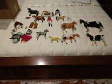 Breyer, Hartland and Hong Kong horses and leather tack, blankets and rider *Lot