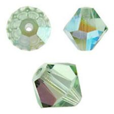 Swarovski Crystal Bicone. Chrysolite AB Color. 4mm. Approx. 144 PCS. 5328