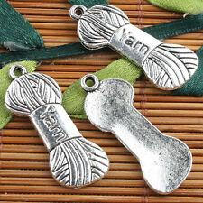 Alloy metal Tibetan Silver color a bundle of Yarn style charms60pcs EF0110