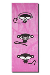 ~No Evil Monkeys - Ltd Edition - Cute Urban Canvas Art. Hear See Urban Street~