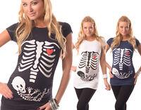 Skeleton-Adorable Slogan Cotton Printed Maternity Pregnancy Top T-shirt 2003