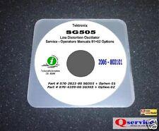 "Tektronix SG505 Audio Generator Options 01+02 Hi Resolution 17""x11"" Diagrams CD"