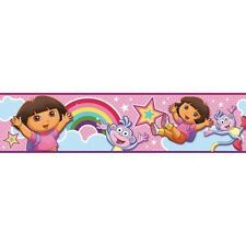 DORA THE EXPLORER & BOOTS BORDER wallpaper 15' room decor Rainbows Stars decal