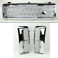Range Rover 03-05 Mesh Chrome Sil Front Bumper Hood Grill & Side Fender Vents