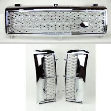 Range Rover 03-05 Mesh Chrome Sil Front Bumper Hood Grill & Side Fender Vents