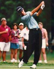 Larry Mize 10x8 Signed Golf Photograph Aftal/Uacc Rd