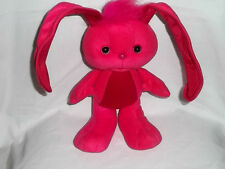 1989 Kenner Plush The Grabbits Bunny Rabbit Fuschia Pink Bendable Ears Stuffed