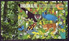 GRAN BRETAÑA 2011 MUNDIALES FLORA Y FAUNA FONDO AMAZON PANEL DE BIEN UTILIZADO