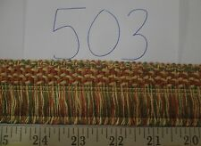 "9 yards LOOP SKIRT FRINGE 1 3/4"" GREEN/RUST-RED/YELLOW  Fabric Trim A503"