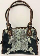 M C Marc Chantal Handbags Western Faux Leather & Snake Skin Purse Black Brown