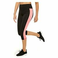 Ideology Women's Colorblocked Cropped Active Leggings, Black, Size M, NwT