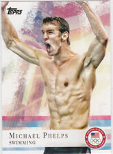 Michael Phelps USA Olympic Team UNITED STATES GOLD MEDAL Swimming Card GOAT!