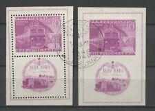 Eisenbahn, Railways - Jugoslawien - Bl.4 A/B gestempelt used 1949