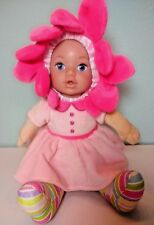 """Adora Snuggle Time Blooms Pink Flower Baby Doll 12"""", Soft Body, Arms & Legs"""