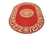 Seidenglanz Greek Teppich Oval 152 x 230 Mäander medusa Versac Rug Carpet versac
