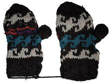 Winter GLITTEN - Grey Handmade Natural Pakistani Wool - Texting Glove Mitten A12