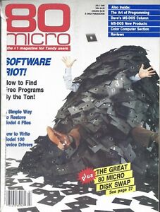 Radio Shack Tandy TRS-80, 80 Micro Magazine, July 1986