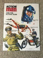Vintage  Action Man Picture Card