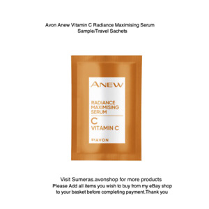x 2 Avon Anew Vitamin C Radiance Maximising Serum Sample/Travel Sachets Free P&P
