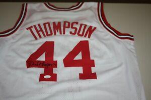 DAVID THOMPSON #44 SIGNED NC STATE WOLFPACK CUSTOM WHITE ROAD JERSEY JSA WITNESS